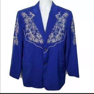 El General Embroidered Blazer Sport Coat Western